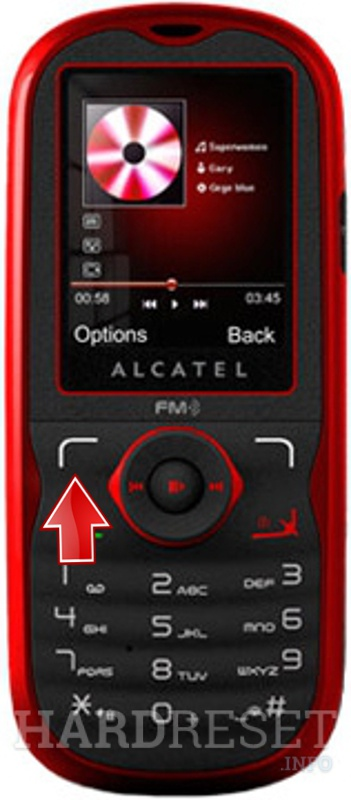 Factory Reset ALCATEL OT-505