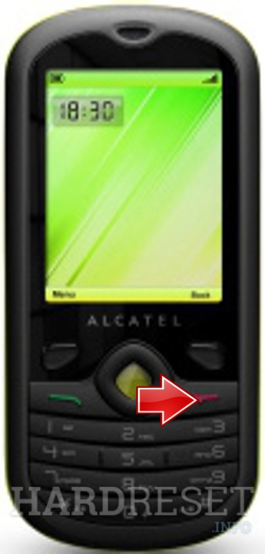 Hard Reset ALCATEL OT-606 One Touch Chat