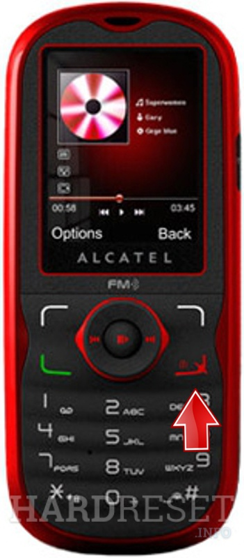 Hard Reset ALCATEL OT-505