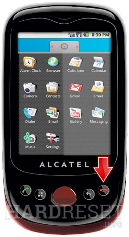 Hard Reset ALCATEL OT-980