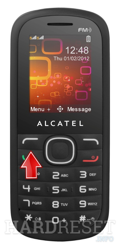 Factory Reset ALCATEL OT-318D