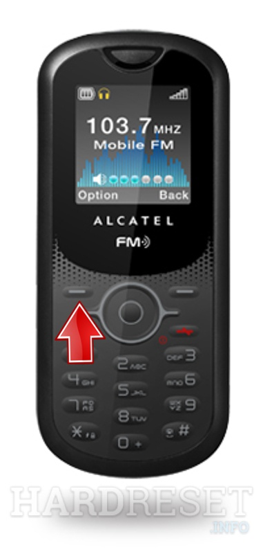 Factory Reset ALCATEL OT-E206A