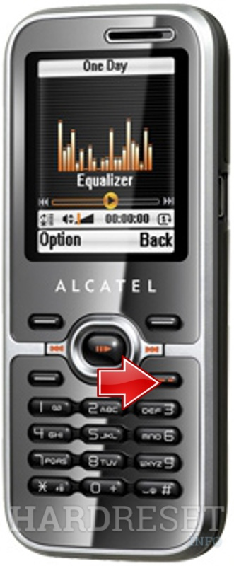 Hard Reset ALCATEL OT-S626A