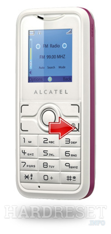 Hard Reset ALCATEL OT-S211A