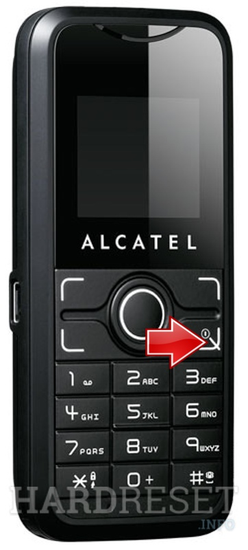 Hard Reset ALCATEL OT-S120