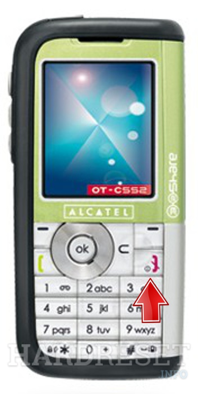Hard Reset ALCATEL OT-C552A