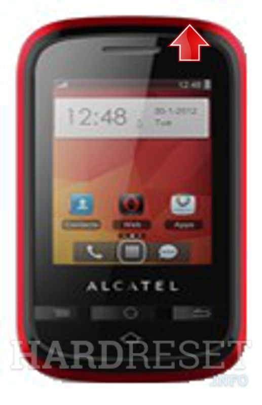 Hard Reset ALCATEL OT-605