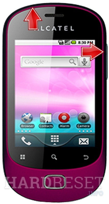 HardReset ALCATEL T-Mobile Move