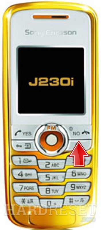Hard Reset SONY ERICSSON J230i Gold Edition