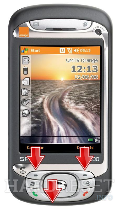 Factory Reset ORANGE SPV M3100 (HTC Hermes)
