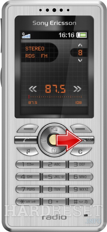 Hard Reset SONY ERICSSON R300 Radio