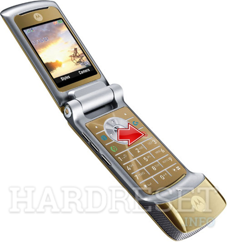Remove Screen Lock on MOTOROLA K1 KRZR Champagne Gold