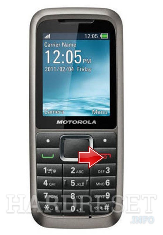 Wipe data on MOTOROLA WX306