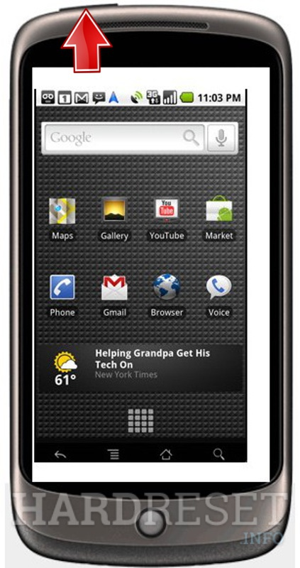 Hard Reset GOOGLE Nexus One