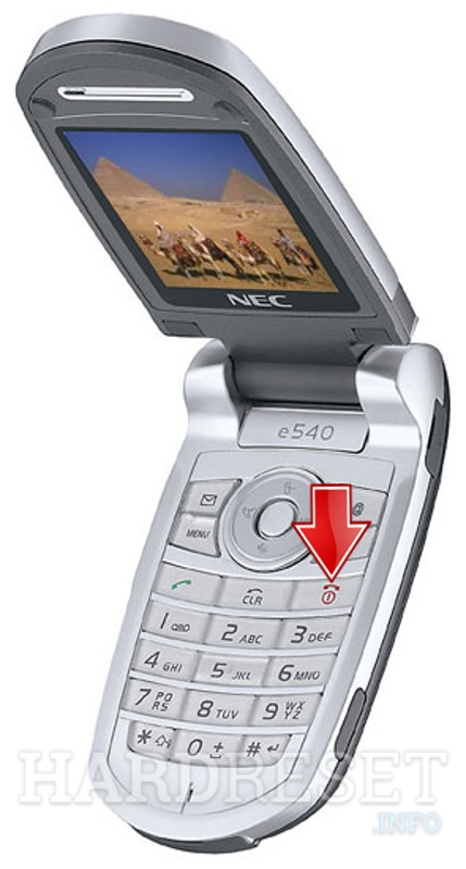 How to Hard Reset my phone - NEC e540 - HardReset info