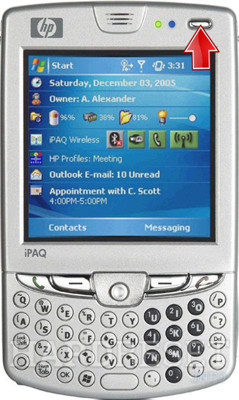 Wipe data on HP iPAQ hw6945 (HTC Sable)