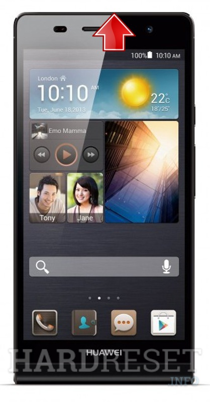 Hard Reset HUAWEI Ascend P6 S