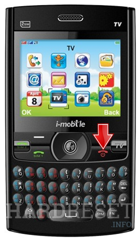 Hard Reset i-mobile TV 640 Qwerty