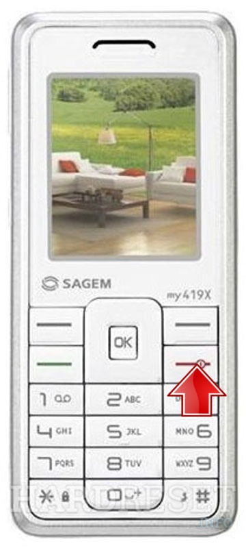 Remove Screen Lock on SAGEM MY 419X