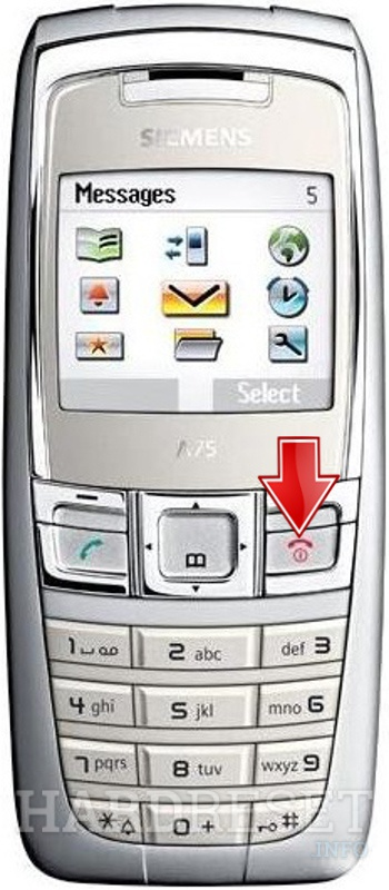 Remove Screen Lock on SIEMENS A75