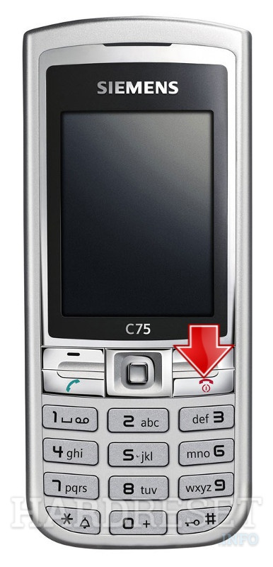 Permanently delete data from SIEMENS C75