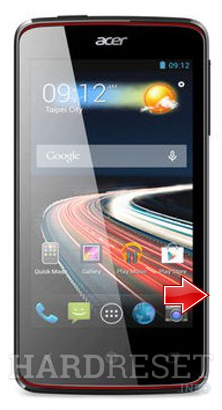 Factory Reset ACER Liquid Z4