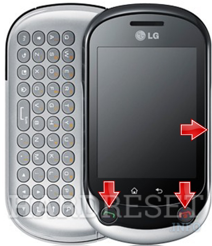 HardReset LG C550 Optimus Chat
