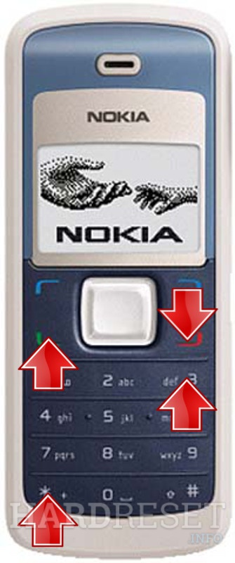 Remove screen password on NOKIA 1265