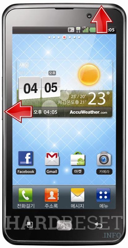 Reset LG Optimus LTE SU640 LU6200