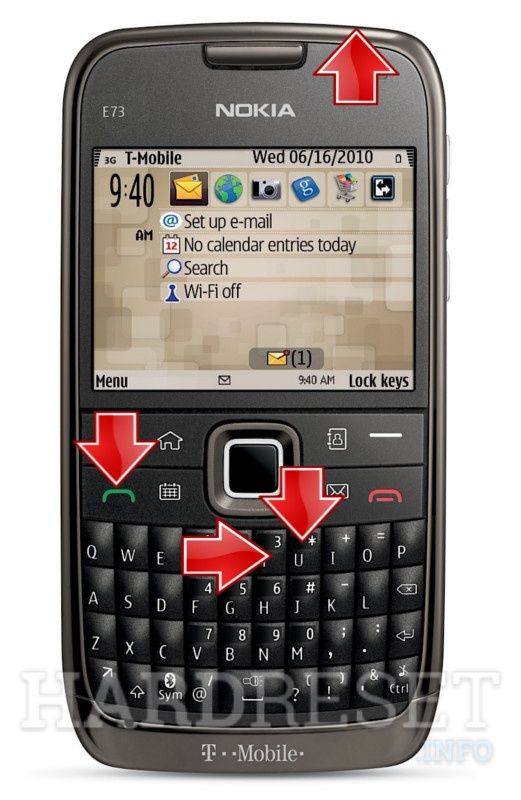 Factory Reset NOKIA E73 Mode