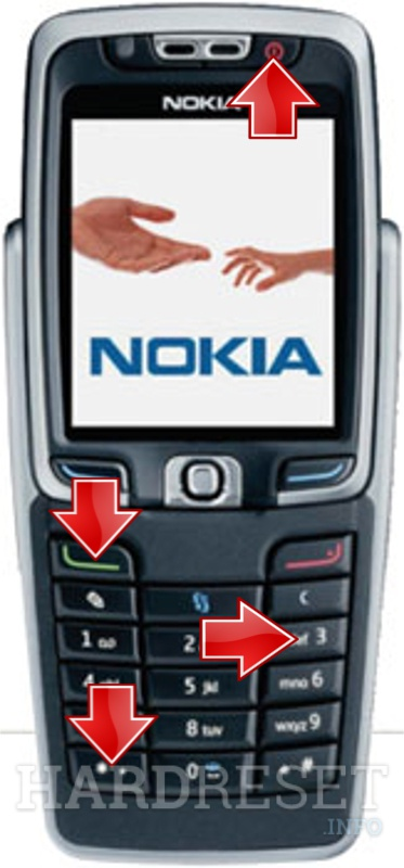 Wipe data on NOKIA E70