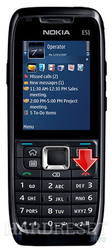Hard Reset NOKIA E51 camera-free