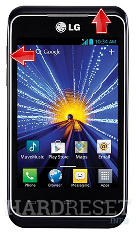 Factory Reset LG LW770 Optimus Regard