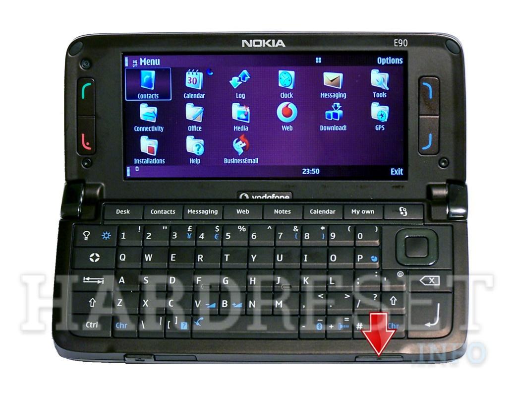 How to Hard Reset my phone - NOKIA E90