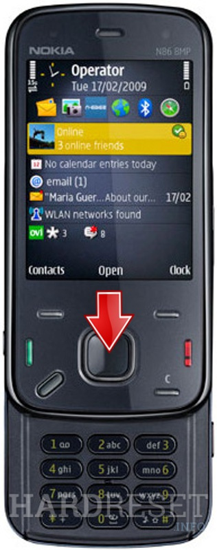 Factory Reset NOKIA N86 8MP