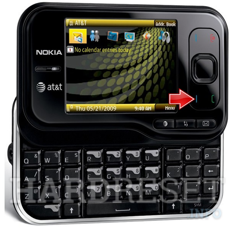Factory Reset NOKIA 6760 slide