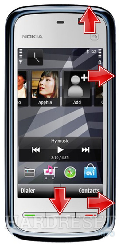 Remove screen password on NOKIA Comes With Music