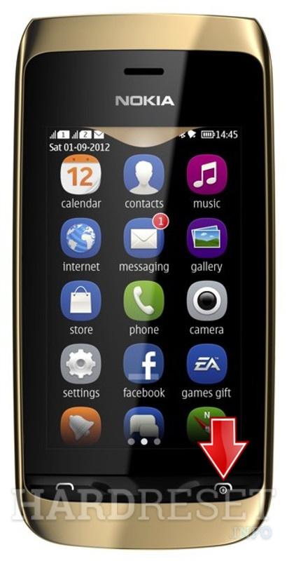 Nokia asha 311 hard reset button