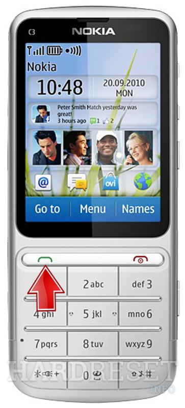 HardReset NOKIA C3-01 Touch and Type