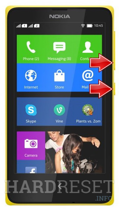 Permanently delete data from NOKIA X+