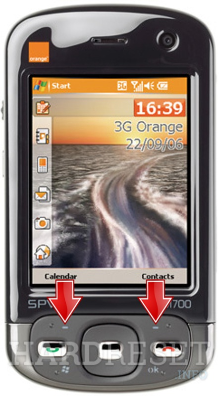 Hard Reset ORANGE SPV M700 (HTC Trinity)