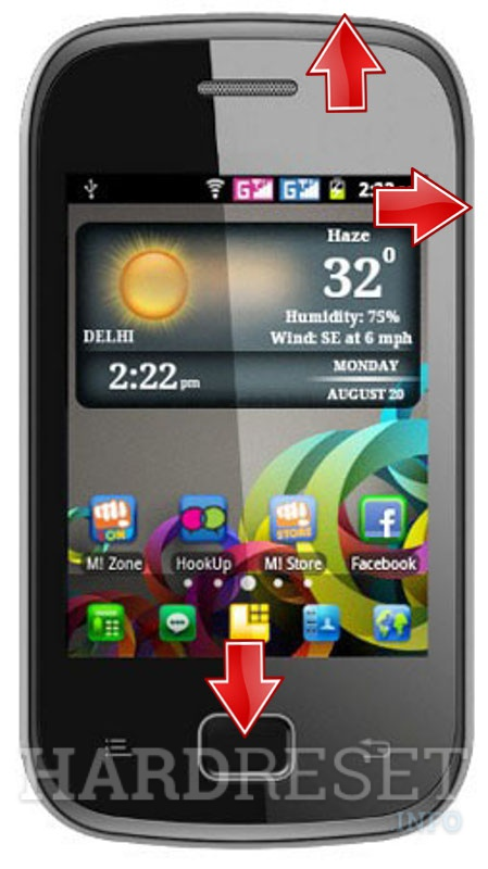 HardReset MICROMAX A25