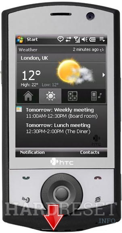 Factory Reset HTC Touch Cruise (HTC Polaris)