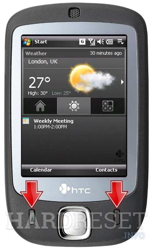 Hard Reset HTC Touch (HTC Vogue)