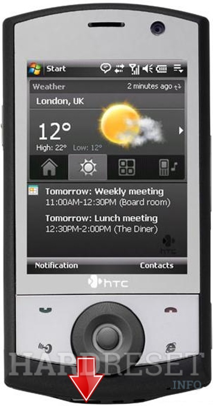 Factory Reset HTC Touch Find (HTC Polaris)