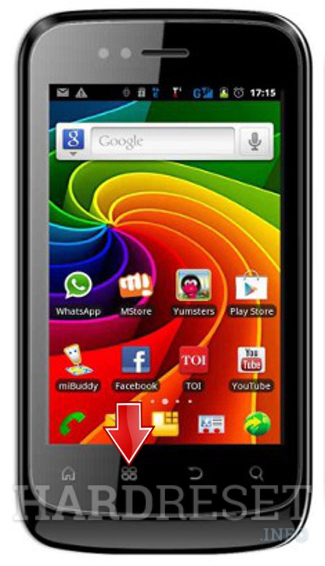 Wipe data MICROMAX A45