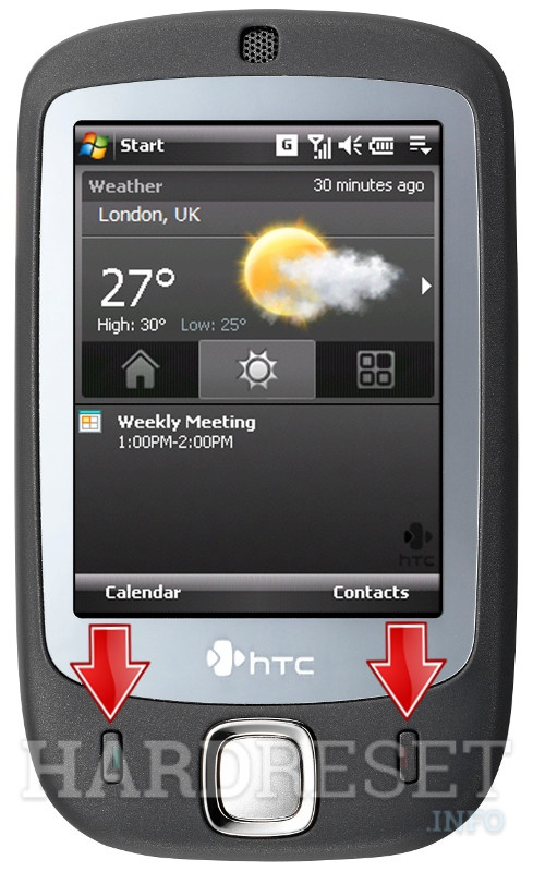 Hard Reset HTC P3050 (HTC Vogue)
