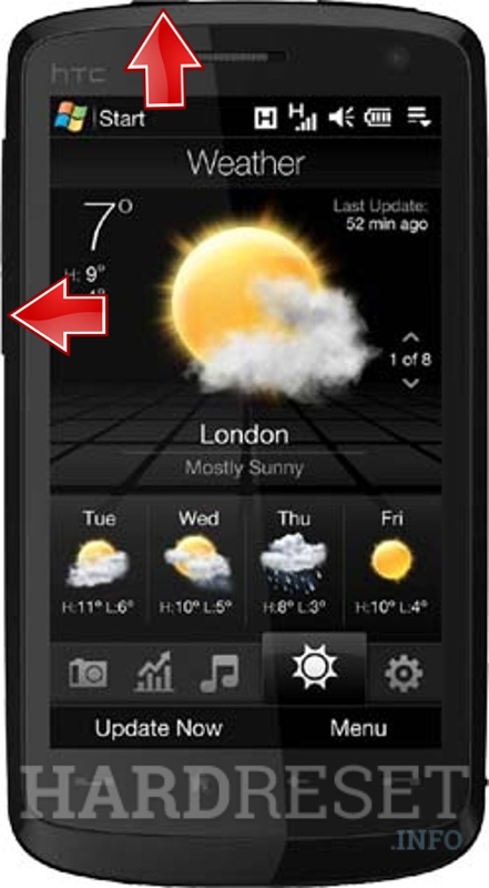 HardReset HTC Touch HD (HTC Blackstone)