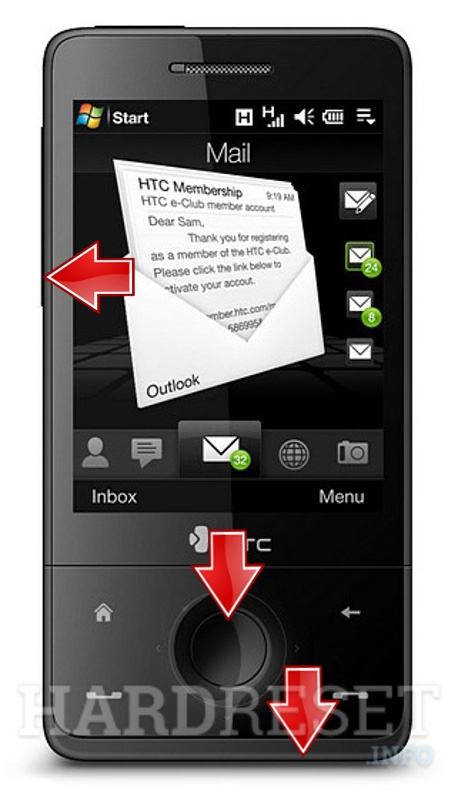 Hard Reset VERIZON WIRELESS XV6850 (HTC Raphael)