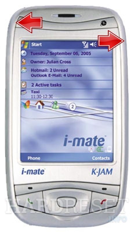 Hard Reset I-MATE K-JAM (HTC Wizard)